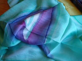 Indian silk scarf