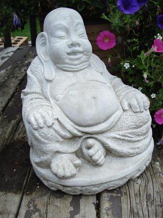 Cement buddha