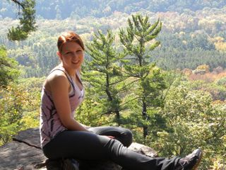 Kysa rock climbing