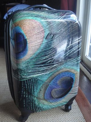 Peacock suitcase