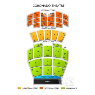 Coronado seating chart