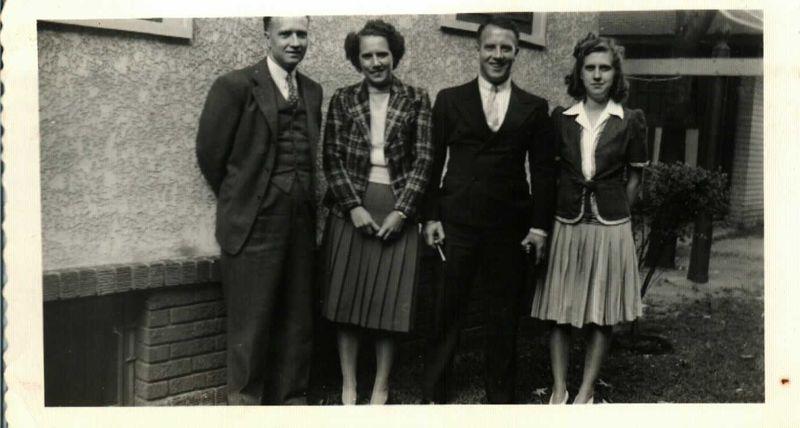 Francis, RAmona, James, Janet 1942