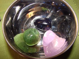 Stones in a bowl