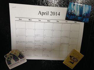Menu April